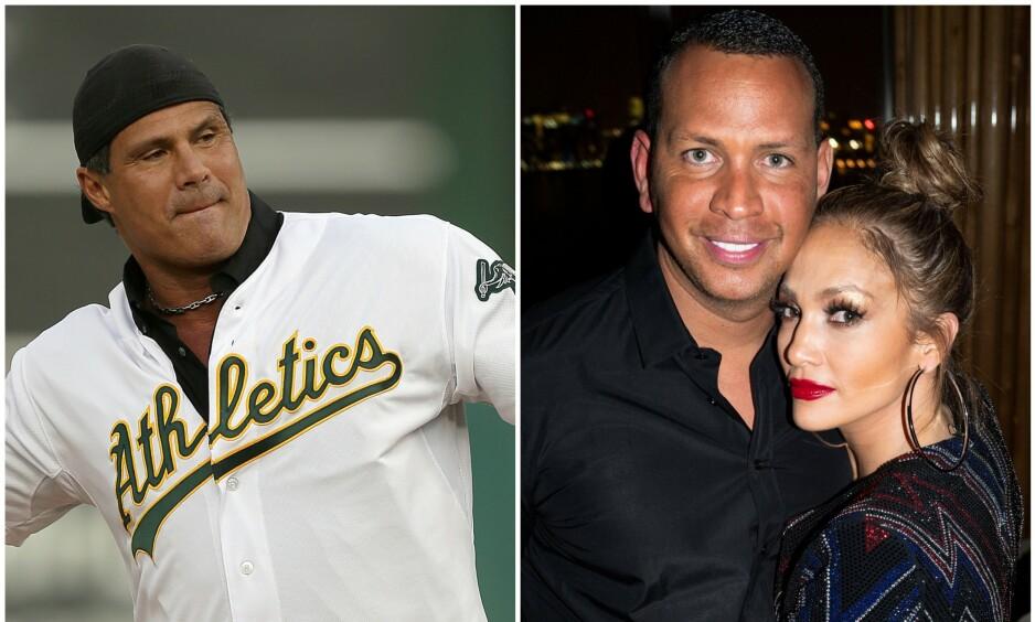 <strong>KOMMER MED HARDE BESKYLDNINGER:</strong> I motsetning til mange andre virker det ikke som at baseballstjernen José Canseco er særlig fornøyd med forlovelsen mellom Jennifer Lopez og Alex «A-Rod» Rodriguez. Foto: NTB Scanpix