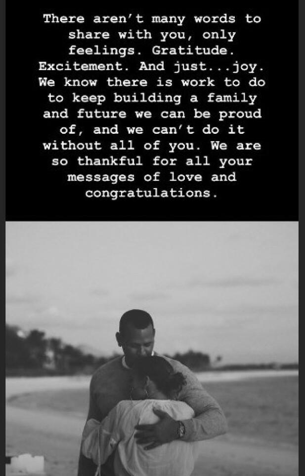 TAKKER FANSEN: A-Rod tok til sosiale medier tirsdag for å vise sin takknemlighet. Foto: Skjermdump fra Instagram