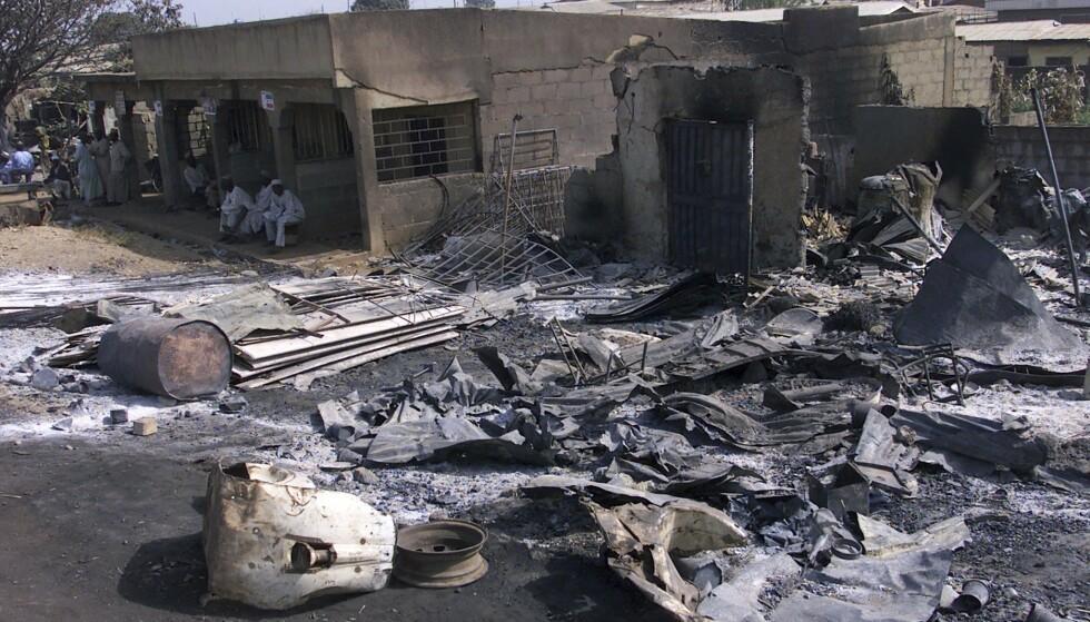 <strong>BOMBET:</strong> Syv mennesker mistet livet da en selvmordsbomber fra Boko Haram angrep avislokalene til This Day i Nigeria. Dette som hevn for at avisen skrev at profeten Muhammed ville ha giftet seg med en missedeltaker.