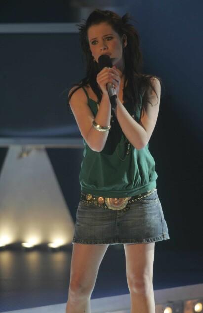DEN GANG DA: Andrea Gjendem Brændvik på «Idol»-scenen i 2005. Foto: Ørn Borgen / NTB Scanpix