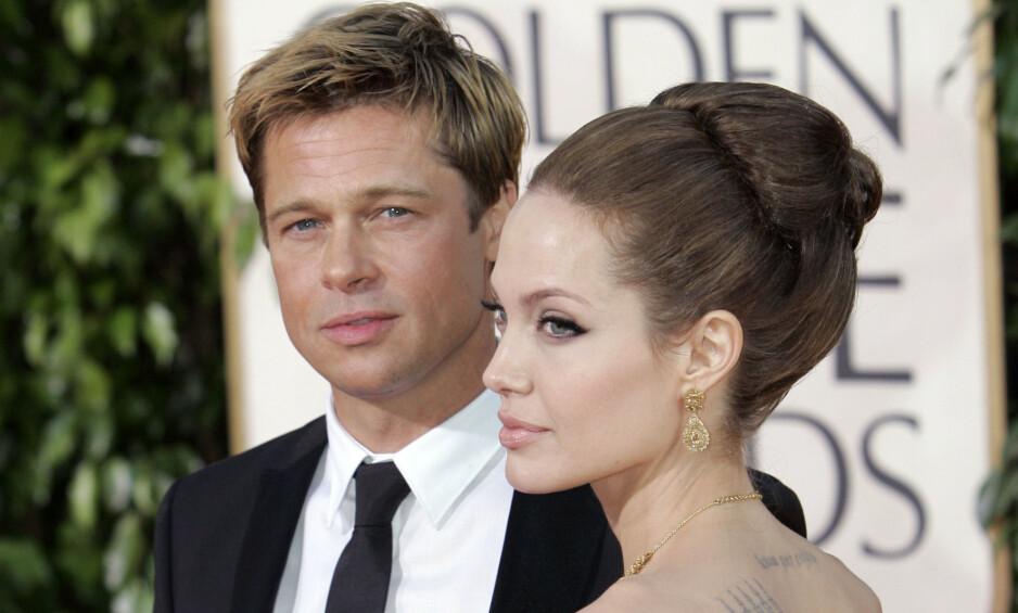 <strong>EKSER:</strong> Det stormer stadig rundt Brad Pitt og Angelina Jolie, selv om det er godt over to år siden de bestemte seg for å skilles. Foto: NTB scanpix
