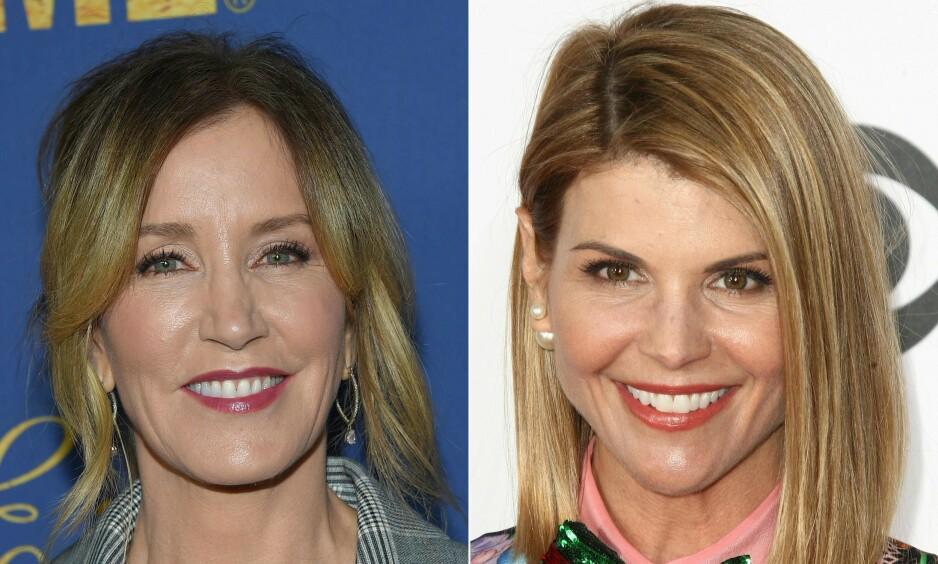 SAKSØKES: Skuespillerne Lori Laoughlin (t.v) og Felicity Huffman er blant de involverte i universitetsskandalen - som nå saksøkes for hele 500 milliarder dollar av en tenåringsmor. Foto: NTB Scanpix