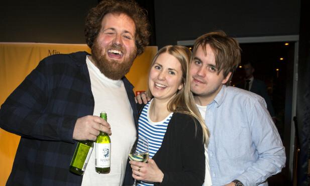 TRIO: Silje Nordnes er programleder i «P3morgen» sammen med Ronny Brede Aase og Markus Neby. Foto: Andreas Fadum