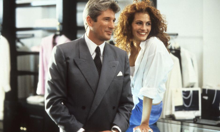 <strong>IKONISK FILM:</strong> Richard Gere og Julia Roberts ble storfavoritter blant folk flest etter at de spilte mot hverandre i «Pretty Woman» fra 1990. Foto: NTB scanpix