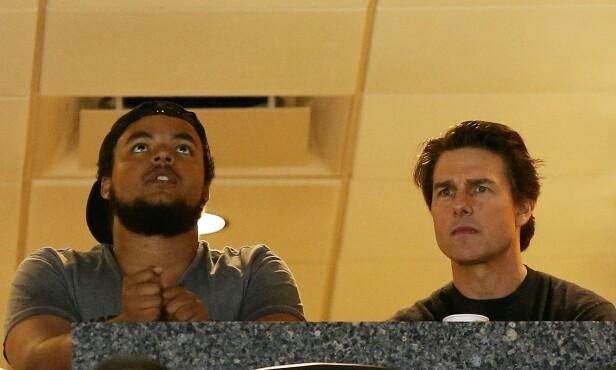 FAR OG SØNN: Tom Cruise og den adopterte sønnnen Connor har et godt forhold. Foto: NTB Scanpix