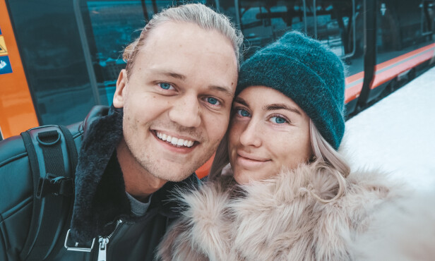 ENDELIG SAMBOERE: Allerede mandag overtar Morten og Andrea leiligheten de har kjøpt sammen. Foto: Privat