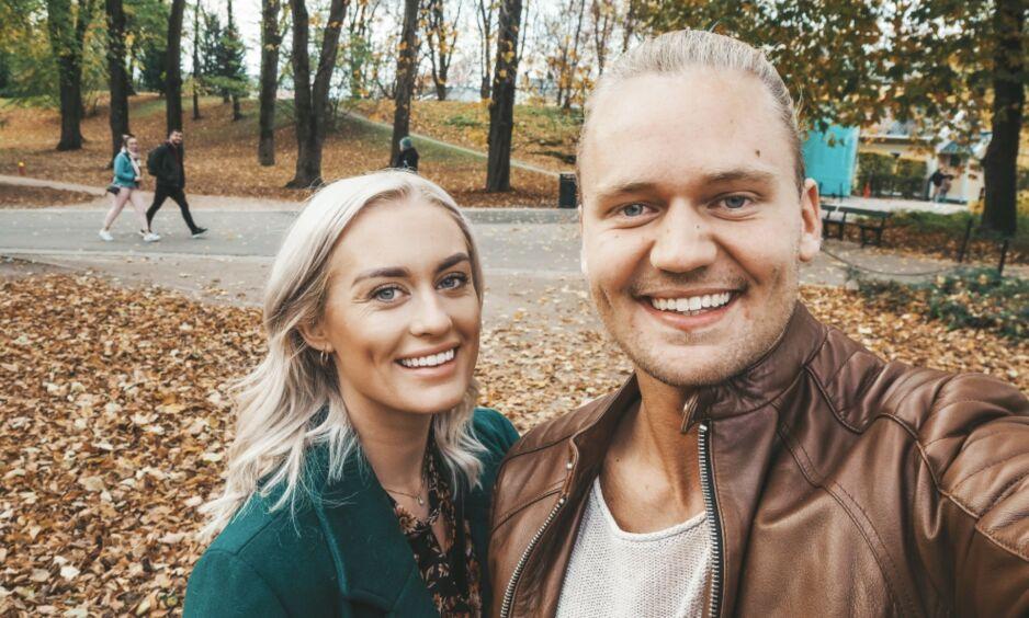 PAR I ET HALVT ÅR: Andrea Sveinsdottir og Morten Dalhaug fant kjærligheten på tv i fjor. Nå flytter de sammen. Foto: Privat