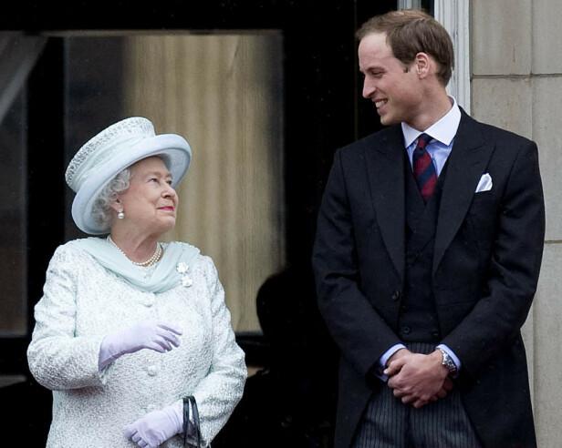 BESTEMOR: Med hjelp av bestemor fikk prins William og Kate et mer personlig preg på bryllupet. Foto: NTB Scanpix