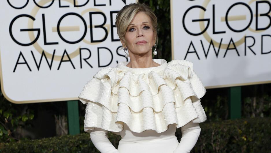 SLITER MED KREFT: Skuespillerstjernen Jane Fonda liker å holde privatlivet sitt for seg selv, men i et nytt intervju med britiske Vogue gjør hun et unntak og forteller åpenhjertig om helsetilstanden sin. Foto: NTB scanpix