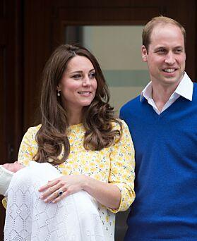 ANDRE GANG: To år senere, da prinsesse Charlotte kom til verden, var hertugparet tilbake. Foto: NTB scanpix