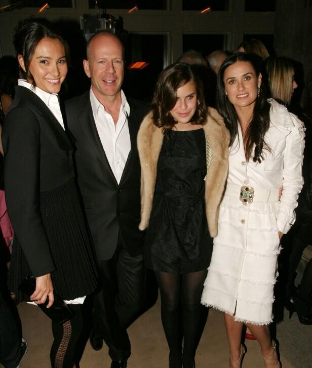 GODT FORHOLD: Demi og Emma har en god relasjon til tross for at førstnevnte tidligere var git med Willis. Foto: NTB Scanpix