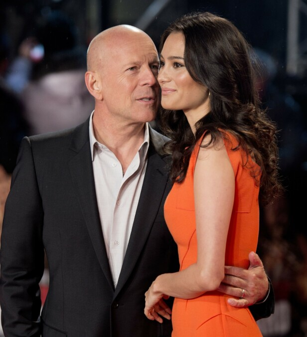 GIFT: Bruce Willis og kona Emma Heming har vært gift i ti år. Her fra 2013. Foto: NTB Scanpix