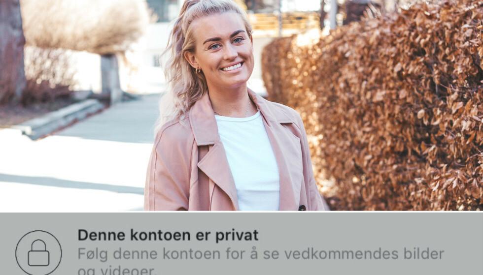 <strong>PRIVAT:</strong> En rekke kjente influensere lukker Instagram-profilen sin, deriblant blogger Andrea Sveinsdottir. Foto: Privat / Skjermdump, Instagram