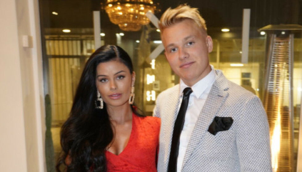 <strong>HAR STENGT PROFILEN:</strong> Sofie Karlstad har stengt profilen blant annet for å holde haters unna. Her er hun med Erik Sæter. Foto. TV 2