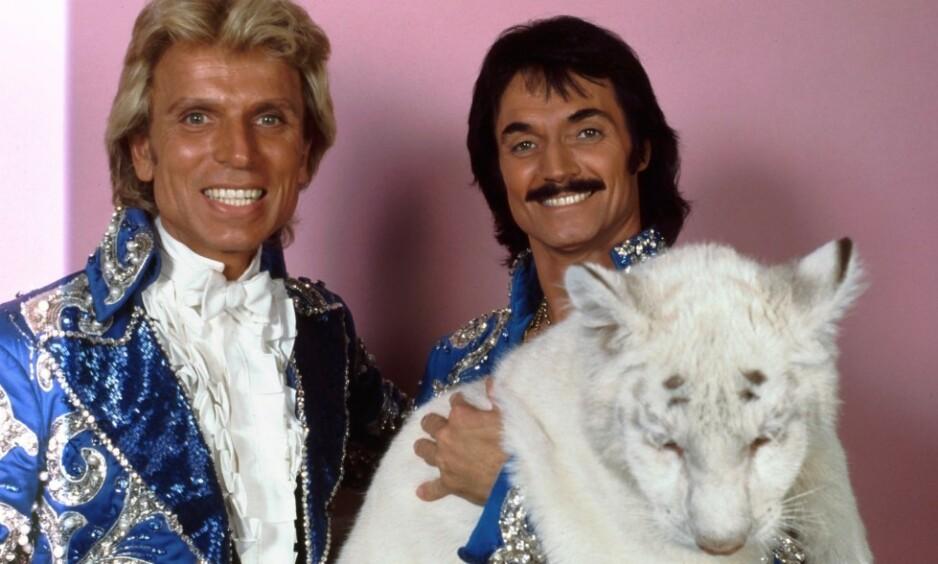 TIGER: Siegfried & Roys storslåtte Vegas-show ved anerkjente The Mirage fikk en brå slutt i 2003, da Roy Horn ble angrepet av en tiger på scenen. Foto: NTB Scanpix