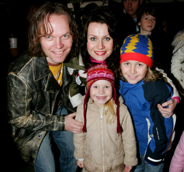 <strong>DEN GANG DA:</strong> Katrine og ektemannen sammen med barna Markus og Evelina i 2006. Foto: NTB Scanpix