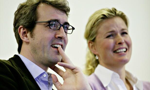 VAR GIFT: Olaf Thommessen og Vendela Kirsebom skilte seg i 2007, etter elleve år som rette ektefolk. Paret fikk to barn sammen. Her er de fotografert i 2004. Foto: Aleksander Nordahl / Dagbladet