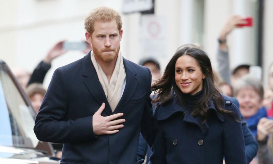 <strong>BLIR FORELDRE:</strong> Prins Harry og hertuginne Meghan blir om kort tid foreldre for første gang. Det er derfor stor interesse rundt den kongelige fødselen. Foto: NTB Scanpix