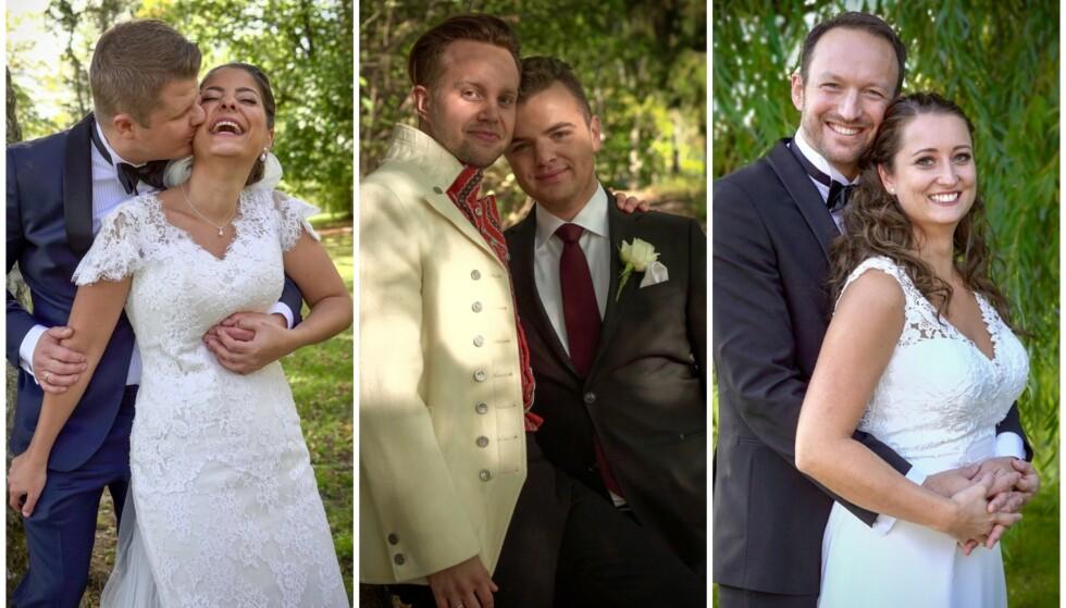 KJÆRLIGHET PÅ TV: I likhet med tidligere sesonger forsøkte tre par å finne kjærligheten på tv. Vi har tatt en prat om hvordan det går i dag. Foto: TVNorge / Discovery