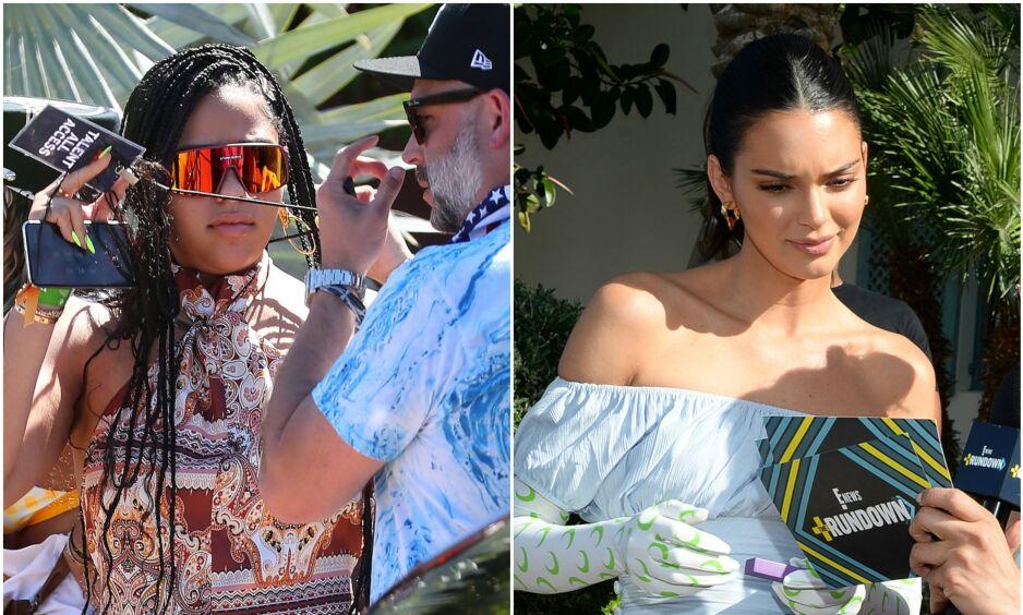 KLEINT: I helgen deltok både Jordyn Woods og Kendall Jenner på Coachella i California. Der skal de to ha møttes - et møte som får mye oppmerksomhet. Foto: NTB Scanpix