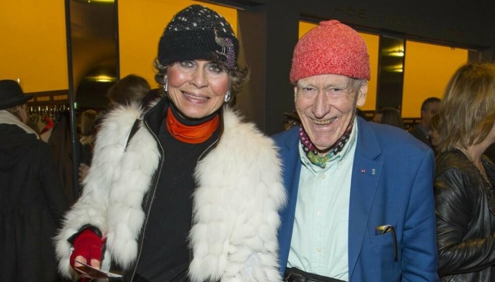 19 ÅR SKILLER DEM: Milliardæren Olav Thon (95) har hatt et forhold til Sissel Berdal Haga (76) i over 30 år. Foto: Foto: Tor Lindseth / Se og Hør