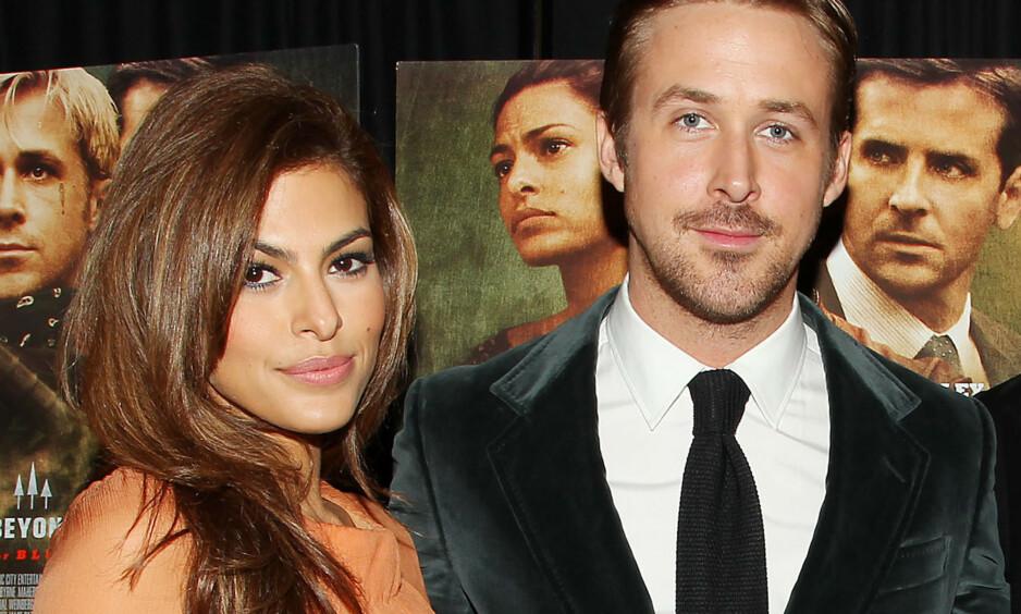 FORELDRE: Eva Mendes og Ryan Gosling har to barn sammen. Førstnevnte ville i utgangspunktet ikke ha barn. Foto: NTB Scanpix