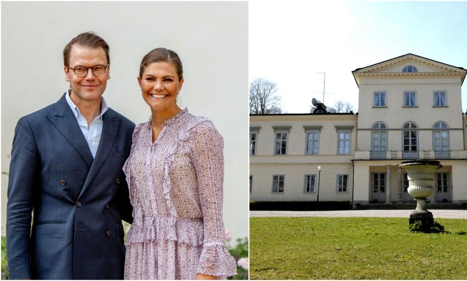 BLI MED HJEM: Kronprinsesse Victoria og prins Daniel åpner dørene til sitt flotte hjem. Foto: NTB Scanpix