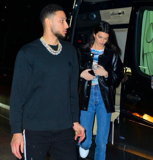 LAV PROFIL: Kendall og Ben holder fremdeles kortene tett til brystet om forholdet sitt, men blir stadig fotografert sammen. Foto: NTB Scanpix