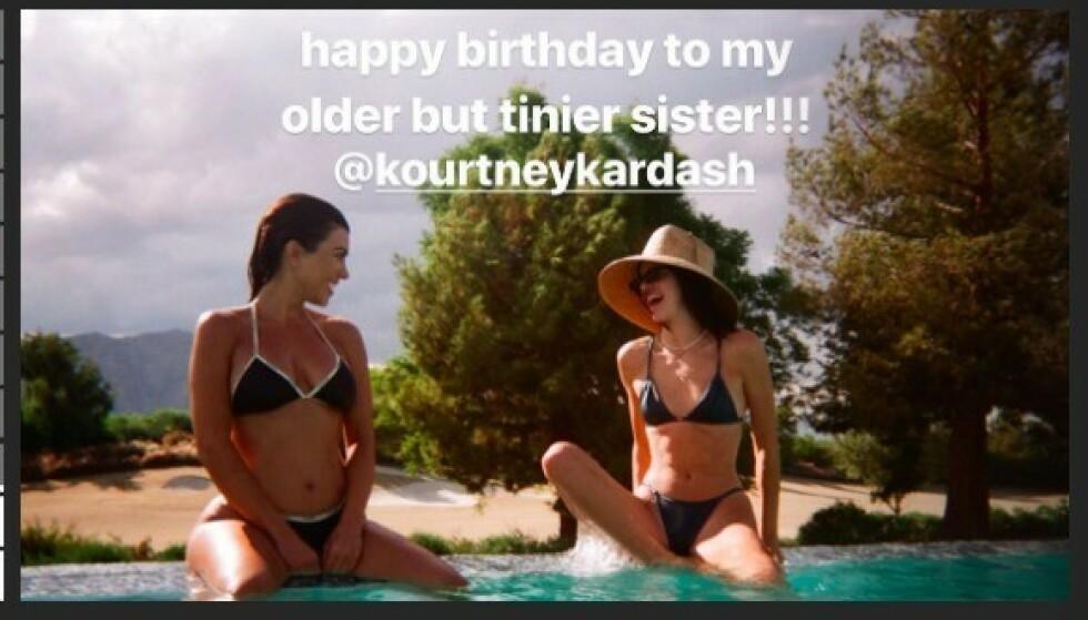 Foto: Grab fra Instagram/Kendall Jenner
