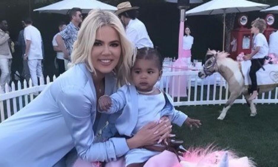ALT FOR TRUE: Khloé Kardashians datter True fikk tilsynelatende alt hun ønsket seg - og litt til - da hun hadde bursdag. Foto: Skjermdump, Instagram