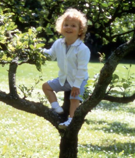 <strong>PAPPA SOM BARN:</strong> Det er liten tvil om at prins Alexander ligner på faren sin. Her er prins Carl Philip avbildet da han var tre år gammel. Foto: NTB Scanpix