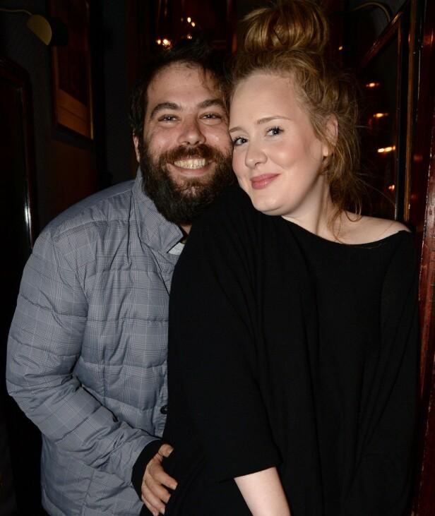 BRUDD: Adele og Simon Konecki har vært et par i syv år. Nå skilles de. Foto: NTB Scanpix