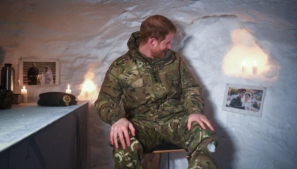 OVERRASKET: Prins Harry fikk en helt spesiell overraskelse da han besøkte Norge tidligere i år. Foto: NTB Scanpix