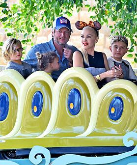 TIVOLI: Blake sammen med Gwen og barna i 2016. Foto: NTB Scanpix