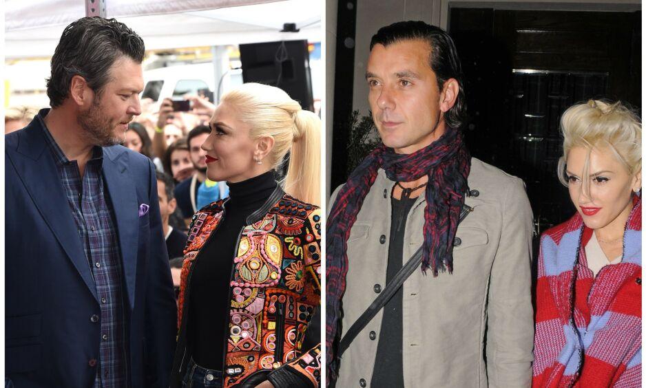 NYTT FORHOLD: De siste tre årene har Gwen Stefani vært sammen med Blake Shelton (t.v). Før det var hun sammen med Gavin Rossdale i to tiår. Foto: NTB Scanpix