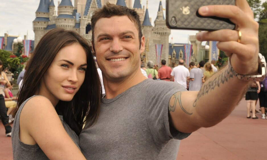 FORTSETTER EKTESKAPET: De siste årene har ekteskapet mellom Megan Fox og Brian Austin Green gått mye opp og ned. Nå skal paret ha det bedre enn på lenge. Foto: NTB Scanpix