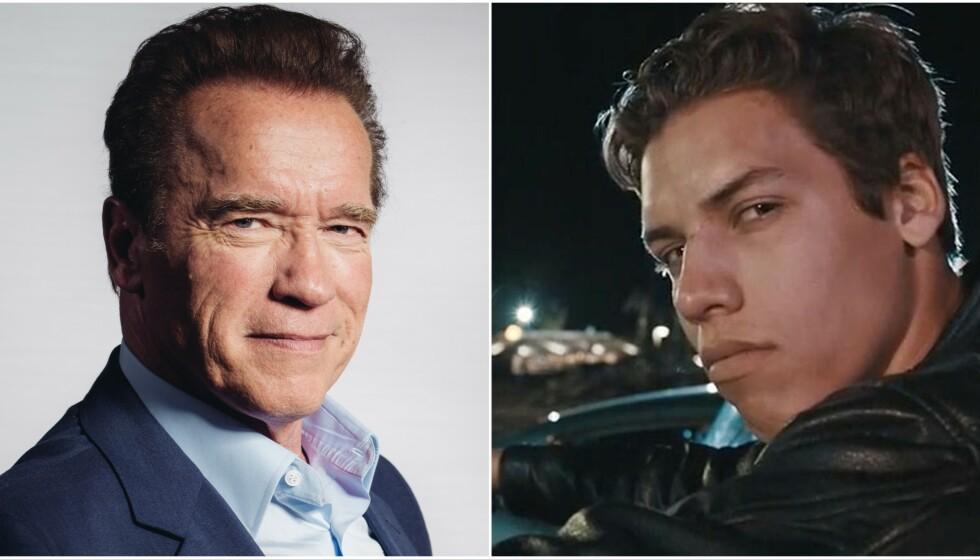 HYLLER SØNNEN: Åtte år etter at det ble kjent at Arnold Schwarzenegger hadde en ukjent sønn med hushjelpen, er vanskelighetene tilsynlatende glemt. Nylig delte en tydelig stolt Schwarzenegger et bilde fra sønnens eksamensfeiring. Foto: NTB Scanpix