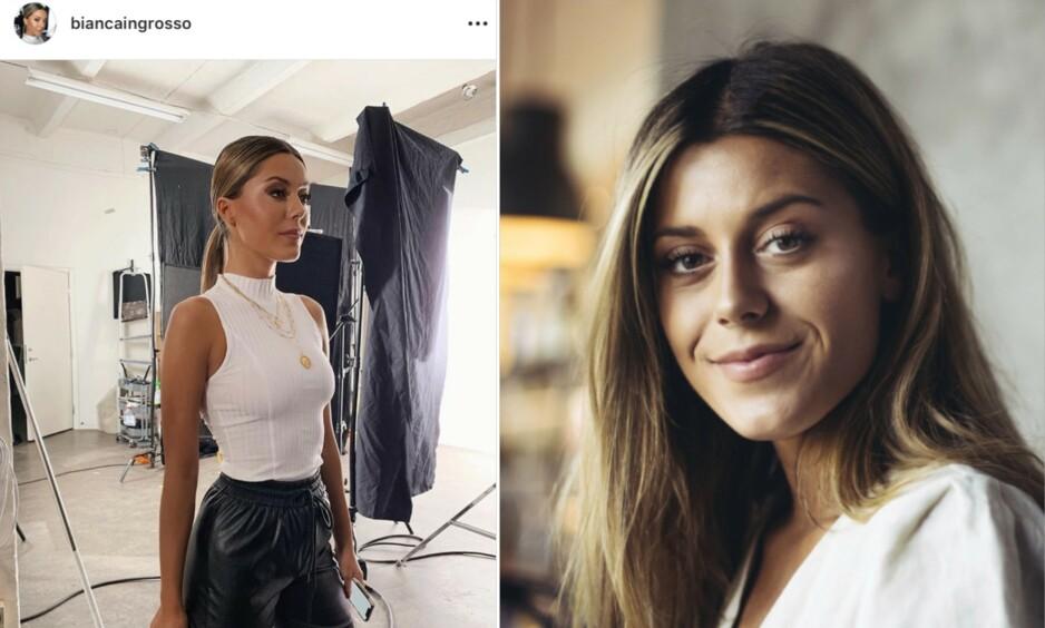 REAKSJONER: Bianca Ingrosso la nylig ut bildet til venstre på Instagram. Det fikk fansen til å rase. Foto: Skjermdump, Instagram / NTB Scanpix