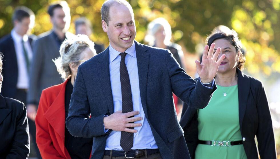 PRINS WILLIAM: Da prinsen besøkte Christchurch på New Zealand forrige uke, snakket han litt om prins Harry og hertuginne Meghans nært forestående familieforøkelse. Foto: NTB scanpix