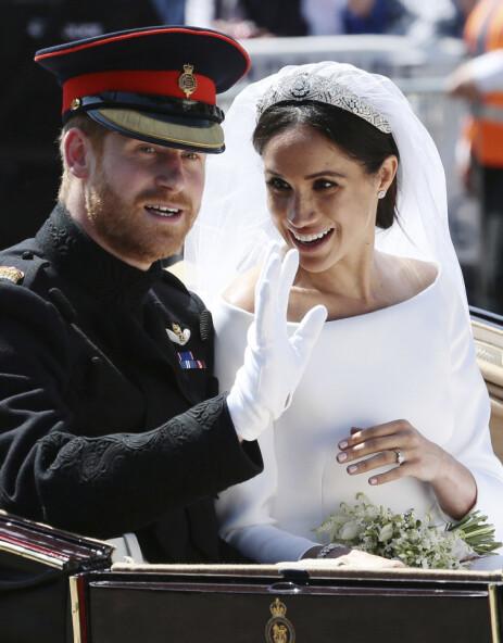 VENTER BARN: Det er snart ett år siden prins Harry og hertuginne Meghan giftet seg. Nå blir de snart foreldre. Foto: NTB Scanpix