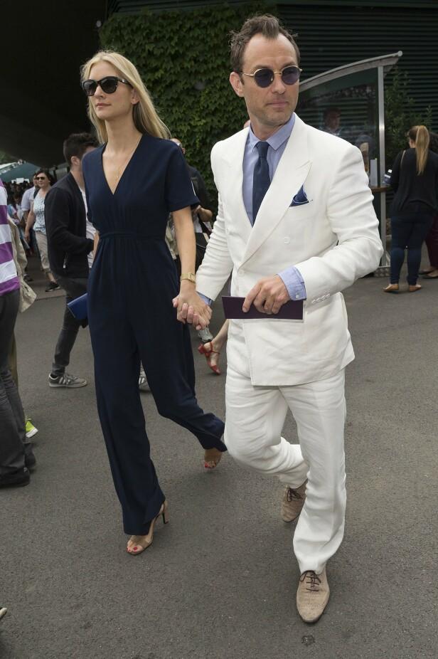 GIFT: Jude Law og kjæresten gjennom tre år, Phillipa Coan, har gitt hverandre sitt ja. Her avbildet ved en tidligere anledning. Foto: NTB Scanpix