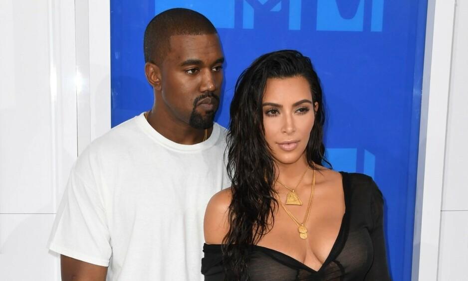 BLE FORELDRE: Kim Kardashian og Kanye West er blitt firebarnsforeldre. Foto: NTB Scanpix