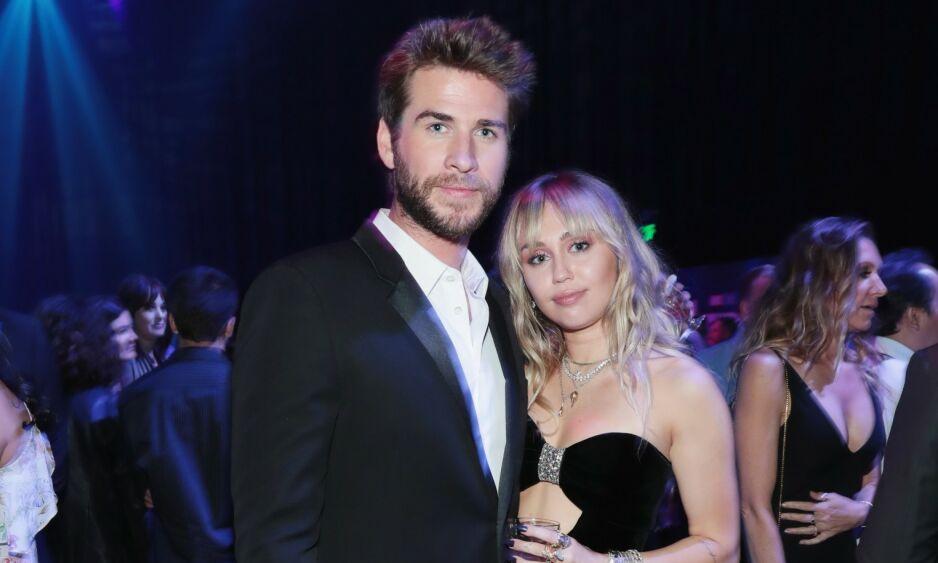 LYKKELIG GIFT: Liam Hemsworth innrømmer at ekteskapet med Miley Cyrus skjedde fortere enn planlagt. Foto: NTB Scanpix