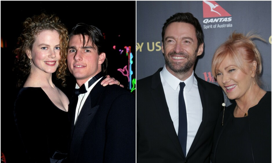 STØTTE: Kidman var knust etter det overraskende bruddet fra Tom Cruise, og fikk god trøst av vennene Hugh Jackman og Deborra-Lee Furness. Foto: NTB Scanpix
