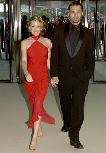 <strong>BRUDD:</strong> Fra 2002 til 2007 var nemlig Kylie sammen med skuespiller Olivier Martinez (53). Etter fem år gikk duoen hver til sitt. Her avbildet i 2003. Foto: NTB Scanpix