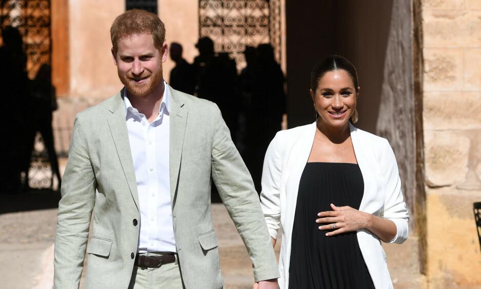 <strong>SNART FORELDRE:</strong> Prins Harry og hertuginne Meghan blir i disse dager foreldre for første gang. Nå hevdes det at de er på leting etter bolig i California, for å ha et hjem i nærheten av Meghans mor, Doria Ragland. Foto: NTB Scanpix