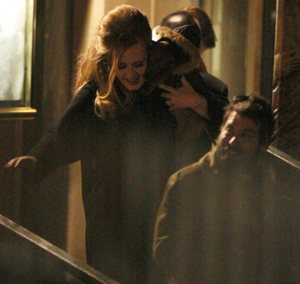 <strong>LAV PROFIL:</strong> Adele og Simon holdt en svært lav profil i løpet av forholdet og ekteskapet. Her sammen i 2012. Foto: NTB Scanpix