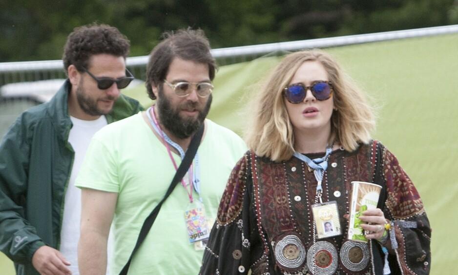 <strong>SKILLES:</strong> Adele og Simon Konecki avslørte i april at de skal skilles. Foto: NTB Scanpix