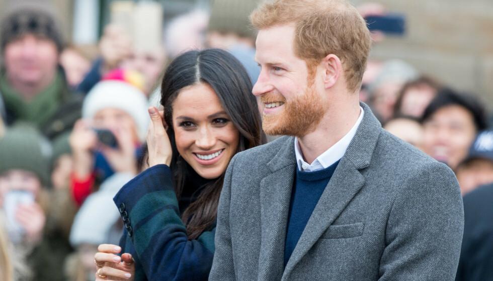 BLE FORELDRE: Mandag annonserte prins Harry og hertuginne Meghan at de hadde blitt foreldre for første gang, til en gutt. Foto: NTB Scanpix