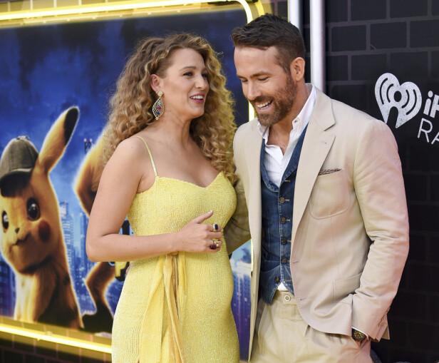 OVERRASKET: Stjerneparet Blake Lively og Ryan Reynolds overrasket en hel verden, da de dukket opp på rød løper forrige uke. Foto: NTB scanpix